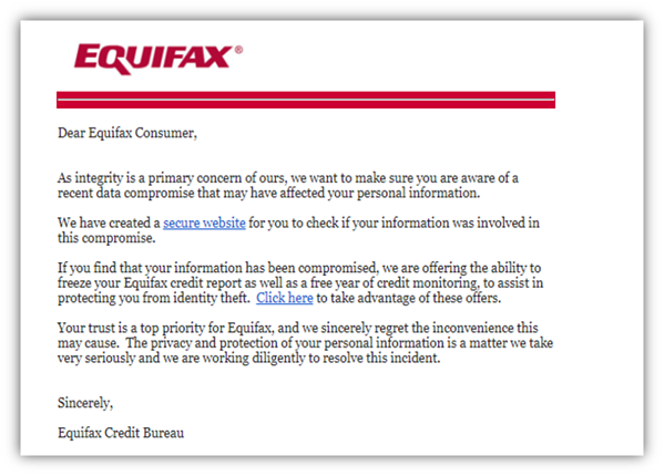 The Equifax Data Breach Settlement is Spawning Scam Emails